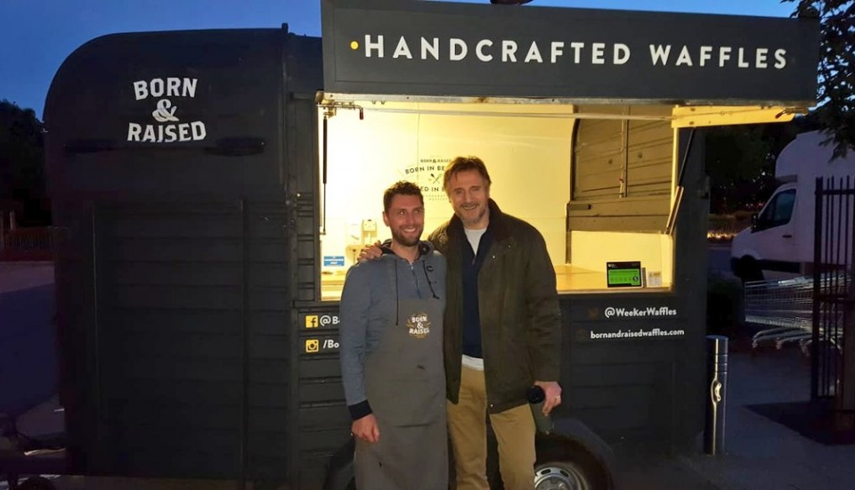 Liam Neeson Hires our Waffle truck in Belfast